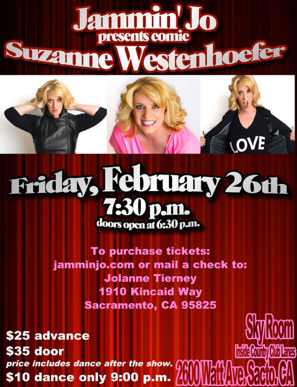 Suzanne Westenhoefer at the Sky Room in Sacramento, CA